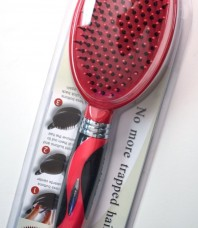 "New Self-Cleaning ""Q"" Hair Brush"